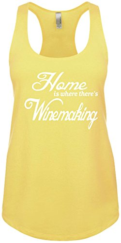 Signature Depot Junior's Funny Tank Top Size S (Home Is Where There's Winemaking) Ladies Shirt