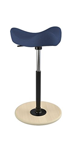 UPC 814664021109, Move Tilting Saddle Stool by Varier (Dark Blue Revive Fabric with Natural Ash Base)