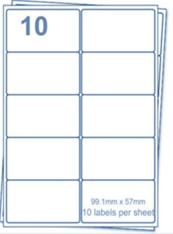 🌟 EJRange 10 etiquetas por hoja A4, 100 hojas, 1000 etiquetas Total, Etiquetas de impresora de envío de direcciones autoadhesivas compatibles con ...