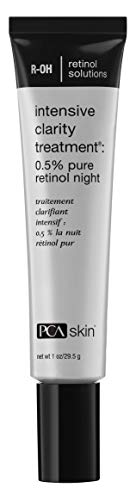 PCA SKIN Intensive Clarity Treatment: 0.5% pure retinol night, Nighttime Treatment for Aging & Acne Prone Skin, 1 fluid ounce