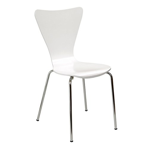 Legare Furniture Bent Ply Chair in White Finish by Legare