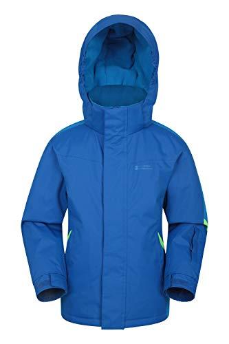 Mountain Warehouse Raptor Kids Snow Jacket - Winter Ski Coat for Boys & Girls Two Tone Blue 11-12 Years