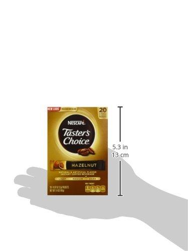 Nescafe, Taster's Choice, Instant Coffee, Hazelnut, 20-Count Sticks, 1.4oz Box (Pack of 4)