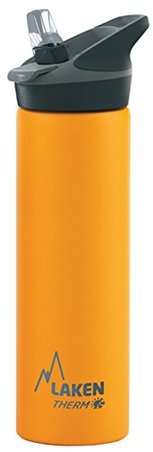 Laken Jannu Vacuum Insulated Stainless Steel Water Bottle with Straw Cap and Handle 25oz Yellow