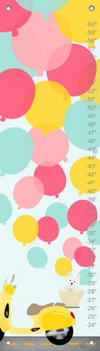 Oopsy Daisy Growth Chart, Balloons, 12'' x 42'' by Oopsy Daisy