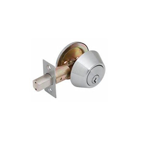 Global Door Controls GLS660-SCH-626 Imperial USA Glc Series Grade 3, Residential Deadbolt In Brushed Chrome