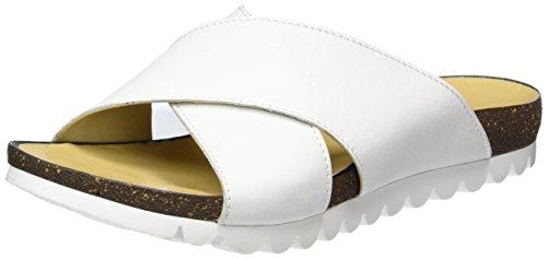 Andrea Conti Damen 1673409 Pantoletten, Weiß (Weiß), 40 EU