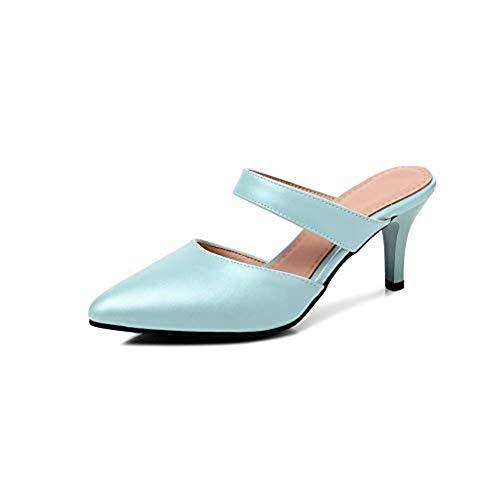 T-JULY Women's Fashion Fashion Fashion Heeled Slides Sandals Sexy Pointy Toe Stilettos Mules Clogs Slip on Dress Pumps Shoes B07G38NPNP Shoes c107ed