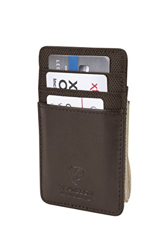 Travelon Safe Id Accent Money Clip Wallet, Brown