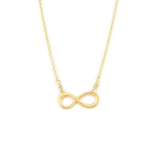 Amazon Handmade Rose Gold Infinity Necklace Tiny Infinity
