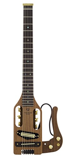 Traveler Guitar 6 String Pro-Series Deluxe (Mahogany) Hybrid Acoustic/Electric w/Gig Bag, Right, Natural Satin PSD MHS