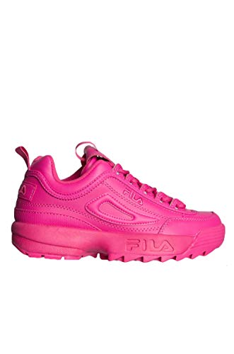(Fila Women's Disruptor II Premium Sneakers, Fuchsia Purple/Fuchsia Purple, 8 M US)