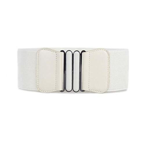 Price comparison product image UNKE Vintage Buckle Wide Stretch Elastic Corset Waist Belt Waistband For Women