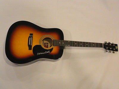 rosanne-cash-signed-sunburst-acoustic-guitar-johnny-exact-proof-jsa-coa