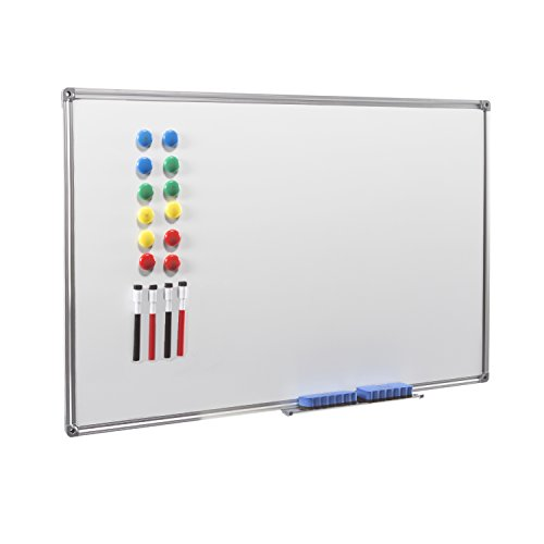 (Magnetic Dry Erase Board - 4THOUGHT 36X24 Inches Whiteboard Wall-Mounted Magnetic Bulletin Board with Aluminium Frame and Removable Tray)