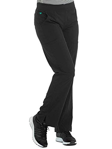 (Med Couture Energy Yoga 2 Cargo Pocket Scrub Pant for Women, Black, X-Large)