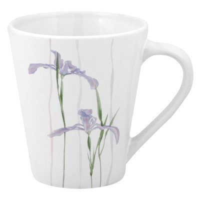 Corelle Impressions Sculptured 10-Ounce Stoneware Mug, Shadow Iris ()