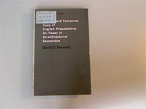 spatial and temporal uses of english prepositions an essay in  spatial and temporal uses of english prepositions an essay in  stratificational semantics longman linguistics library  no  first  printing edition