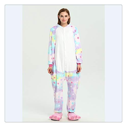 Animal Stitch Star Unicorn Pikachu Onesie Adult Unisex Cosplay Costume Pajamas Sleepwear for Men Women Xmas H Star Unicorn S]()