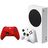 جهاز تشغيل العاب فيديو رقمية Xbox سلسلة اس مع وحدة تحكم لاسلكية حمراء (جهاز تشغيل العاب فيديو رقمية + 2 وحدة تحكم)