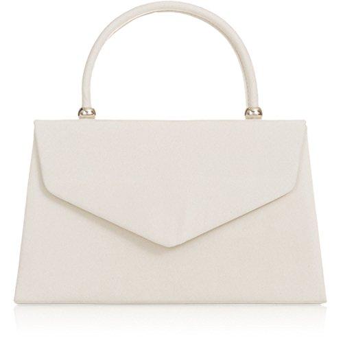 Xardi London nuovo palmare borse da donna in pelle scamosciata sintetica donne sera frizione borse Ivory
