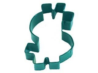 Green Dollar Sign Cookie Cutter 3 1/2