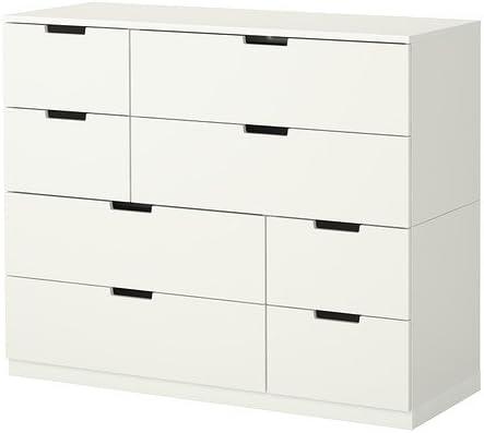 Ikea Nordli Kommode Mit 8 Schubladen Weiss 120x97 Cm Amazon