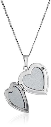 dc3ad1098f Sterling Silver Engraved Flowers Heart Locket Necklace, 18