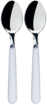 Excelsa Trendy Set of Teaspoons, Stainless Steel, 2Pieces, White