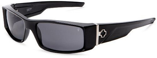 Spy Optic Hielo Polarized Sunglasses,Shiny Black Frame/Grey Lens,one size