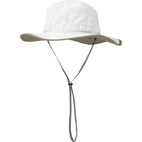 Outdoor Research Women's Solar Roller Sun Hat, White/Khaki, Medium