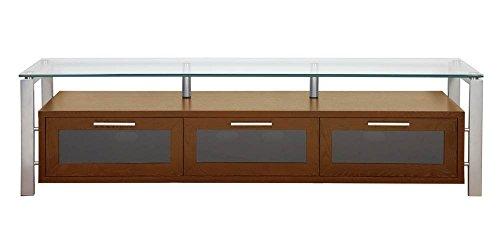 (Plateau DECOR 71 WS Wood and Glass TV Stand, 71-Inch, Walnut Finish)