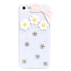 compra Marguerite Bowknot de la joyería del metal de nuevo caso de iPhone 5C
