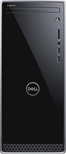 (Dell Inspiron 3670 Desktop Computer with Intel Core I5-8400 2.8 Ghz, 12GB DDR4 SDRAM, 1TB HDD, Black with Silver Trim)
