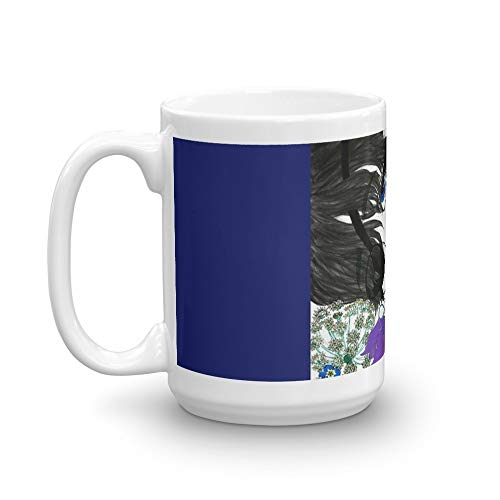 Ciel Phantomhive in Flowers. 15 Oz Ceramic Glossy Mugs With Easy Grip Handle, Give A Classic For Look And Feel. 15 Oz Fine Ceramic Mug With Flawless Glaze Finish