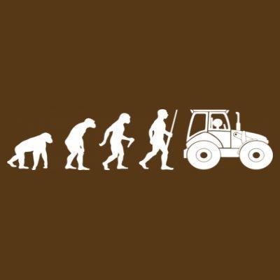 Sudadera con capucha de mujer Tractor Farmer Evolution by Shirtcity Marrón