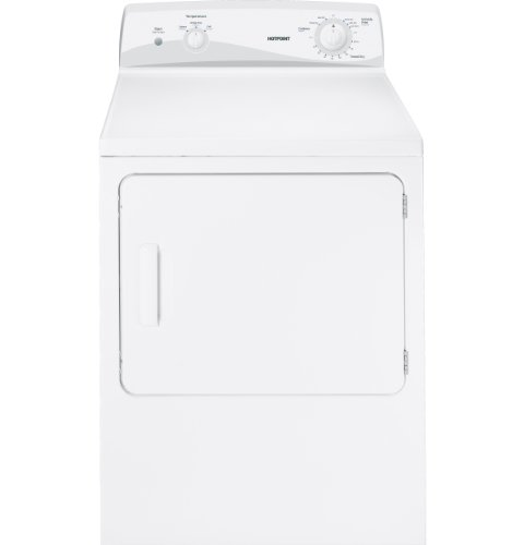 HOTPOINT GIDDS-289538 Hotpoint 6 Cu.Ft. Electric Dryer, White, 4 Cycles, Reversible Door