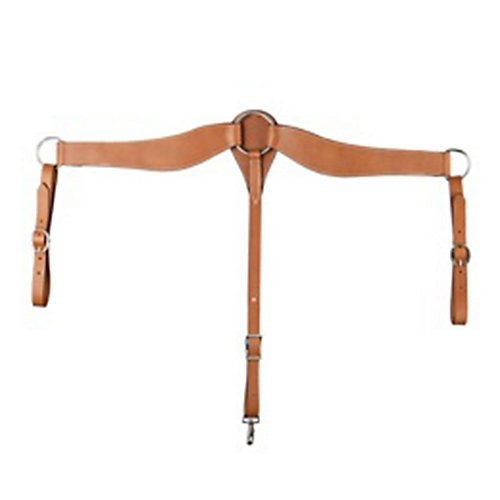 Aime Imports Western Leather Shaped Roper Breast Collar