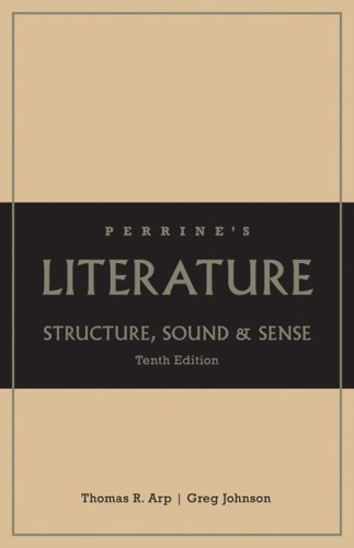 Book cover from Perrines Literature: Structure, Sound, and Sense, 10th Edition by Thomas R. Arp
