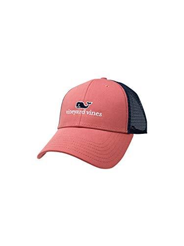 Vineyard Vines Trucker Hat Summer Whale Logo Caps One Size Adjustable Mesh Back (One Size, Jetty Red) (Vineyard Women Hat)