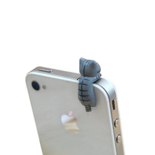 9 Styles Adorable Miniature 3d Kitten Cat Animal Smart Phone Smartphone Plug Earphone Jack Plug Charm Decoration Universal 3.5mm Ear Cap Iphone 4 4s 5 Ipod Ipad HTC Samsung Accessories Friendship Couple Lover Gift (style 1)
