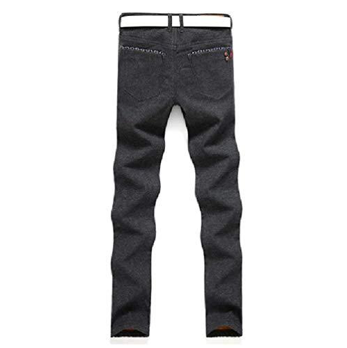 Uomo Tempo Stretch Libero Nero Da Denim Jeans Pantaloni Per Especial inverno Autunno Il In Estilo Termici Slim Fit 5xpAqt7