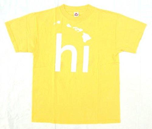 【hi (HAWAI`I)】 古着Tシャツ Mサイズ 黄色 ハワイ諸島 スーベニア