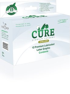 CURE Premium Large Latex Graphic Condoms, 12-pack