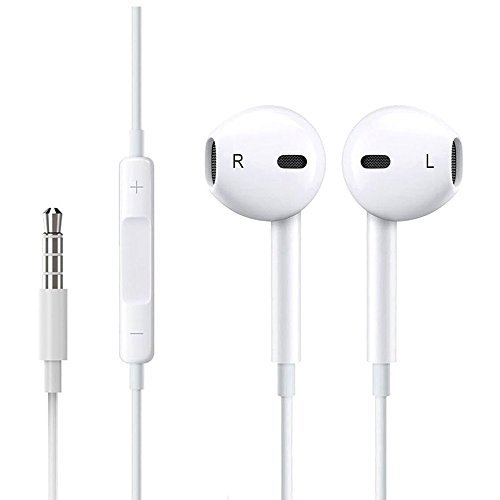 Price comparison product image iPhone Earphones,2Pack Headphones Earbuds with Microphone Stereo for Apple iPhone and More Android Smartphones (White)