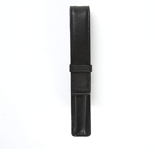 - Single Pen Case - Full Grain Leather - Black Onyx (black)