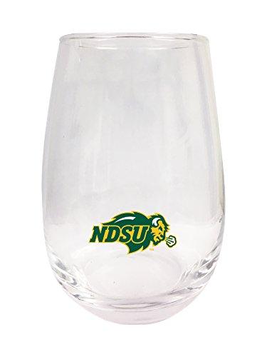 North Dakota State Bison Stemless Wine Glass