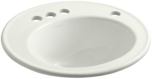 KOHLER K-2202-4R-NY Brookline Self-Rimming Bathroom Sink with 4