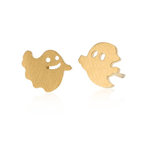 Halloween Ghost Wizard Stud Earrings - for Girls Gift Stainless Steel