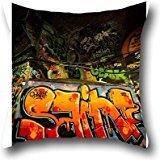 Coco Run In Anarchy Graffiti Throw Pillow Cover Decorative Sofa Grand Luxe 18*18